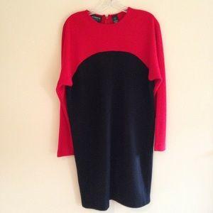 Vintage Liz Claiborne Petite Sweater Dress
